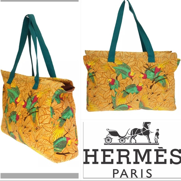 05cd60b3a Hermes Bags | Parrot Leaf Shoulder Bag Tote Orange | Poshmark